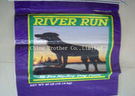 Food Grade Horse Poly Woven Feed Bags , Recycled Woven Polypropylene Bags
