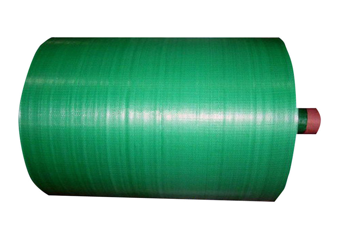 Green Color PP Woven Fabric Roll Waterproof Breathable With Gravure Printing
