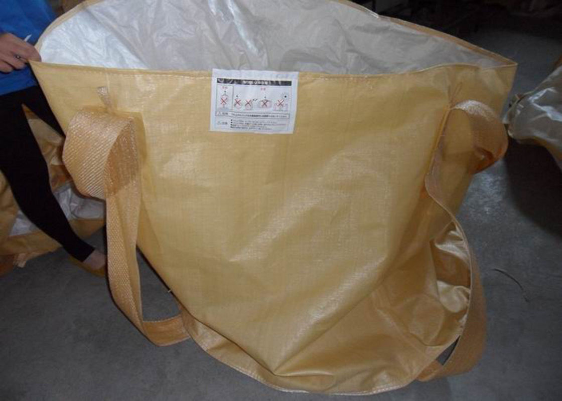 Industrial Flexible Intermediate Bulk Container Bags With Cross Corner Loops