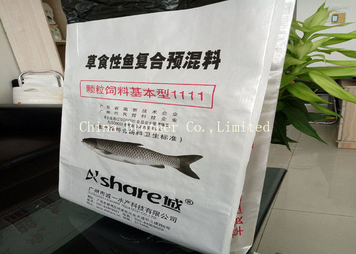 Kraft Paper Woven Polypropylene Feed Bags Customized High Tensile Strength