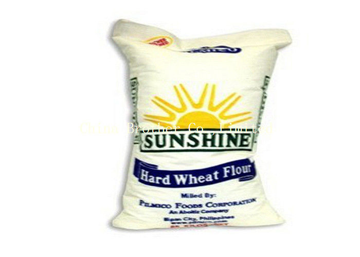 Recyclable Standard Bag Of Flour , PP Plastic Sugar Packaging Bags Offset Printing