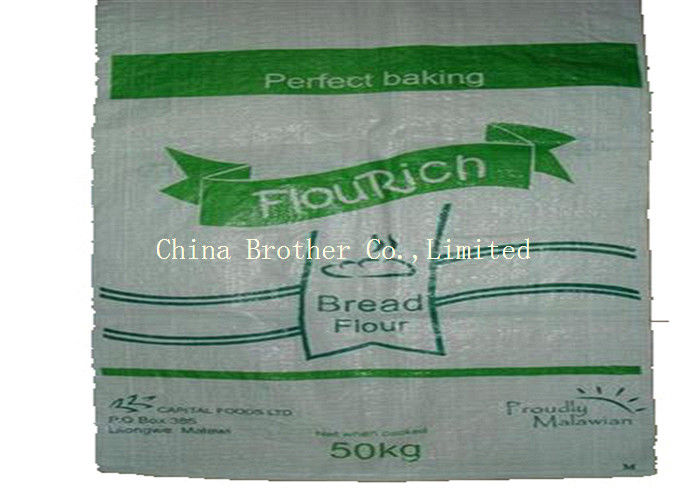 100% Virgin PP Woven Sack Bags UV Protection Eco Friendly For Rice Corn