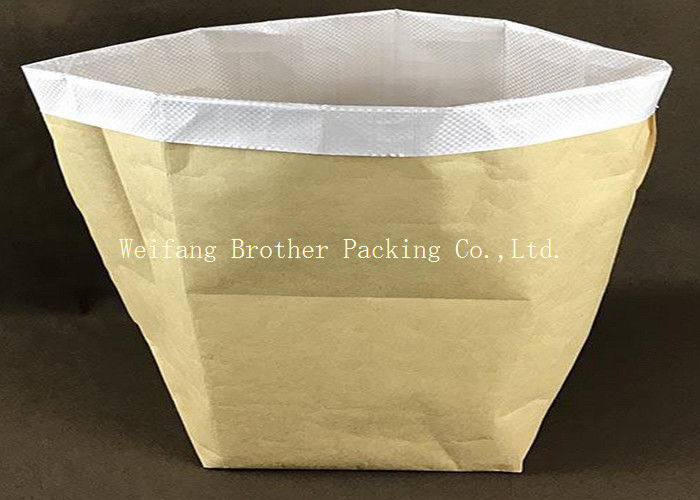 Multi Wall Woven Plastic Cement Kraft Paper Valve Bag 10 Colors Printing