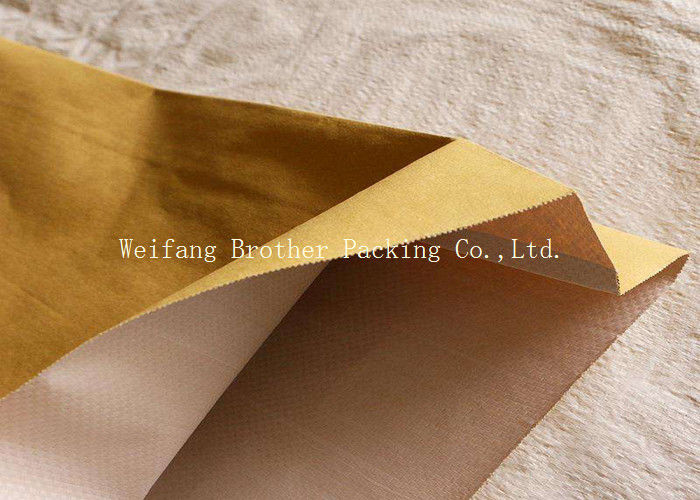 PP Woven Kraft Paper Plastic Composite Bag For Graphite Powder Packing
