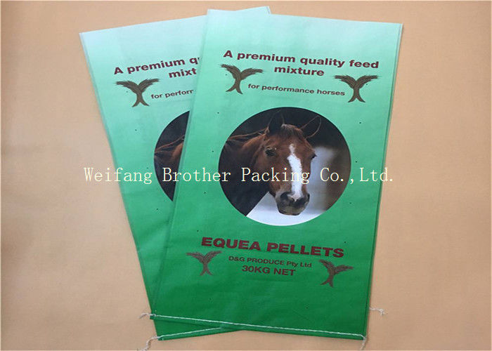 Light Weight BOPP Laminated PP Woven Bags Gravure Printing For Flour Packaging